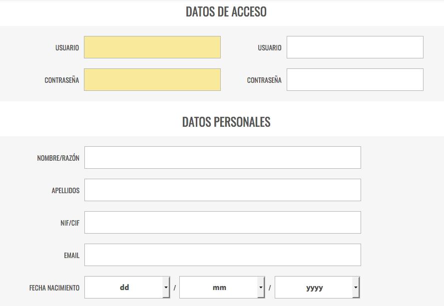 Página de registro en LottoHoy