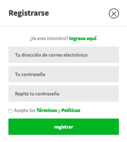 Registro en LottoHoy