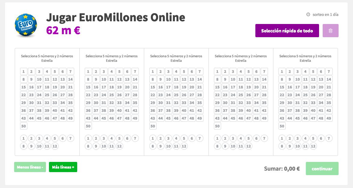 Jugar al euromillones en lottohoy